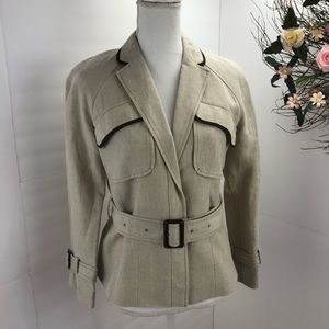 Loft linen belted jacket safari style.